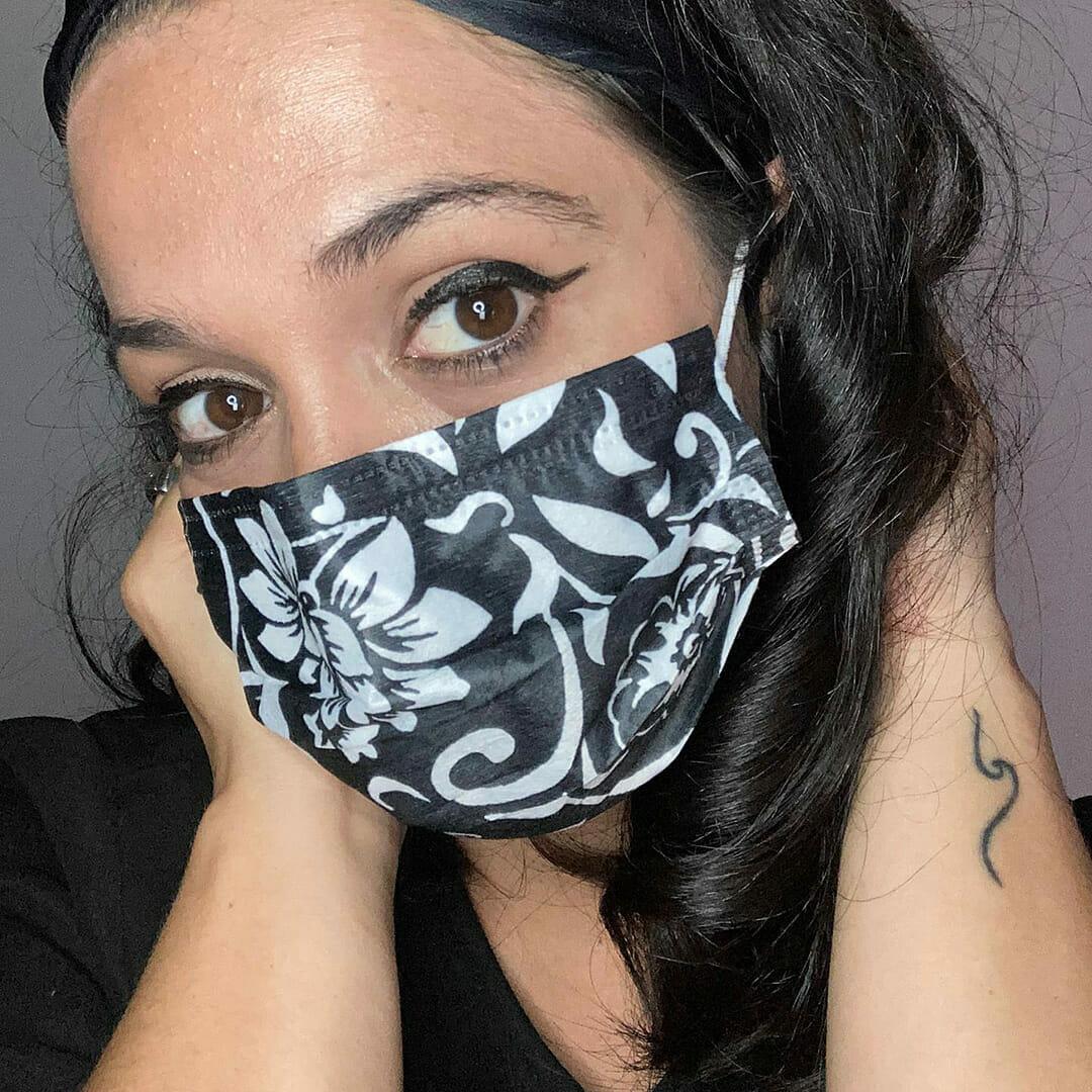 Máscara Higiénica Descartável Padrão Preto