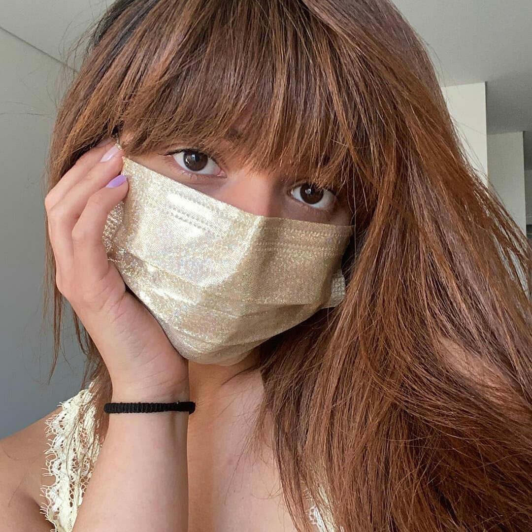 Máscara Higiénica Descartável Dourada