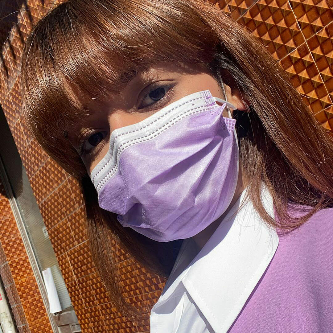 Máscara Higiénica Descartável Lavanda